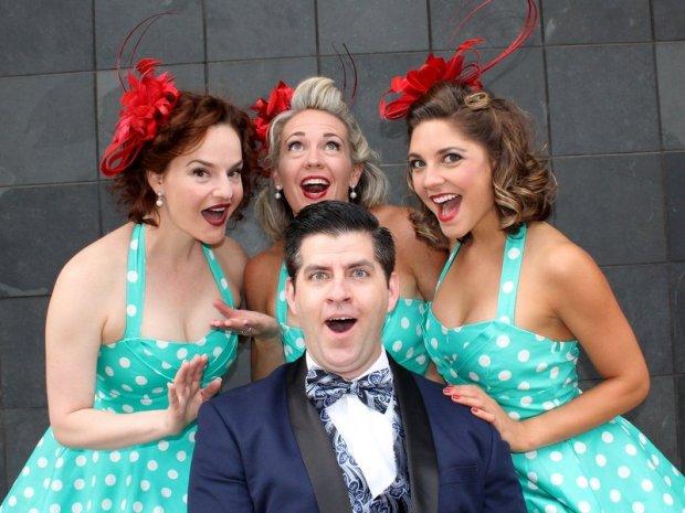 Surprised Mister Tim with the Denver Dolls